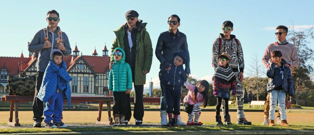 New Zealand Homestay Network hosts Chinese Celebrities in Rotorua for the filming of Daddy, where are we Going? - China's most popular TV Show.