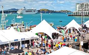crowds and stunning backdrop at Auckland Seafood Festival