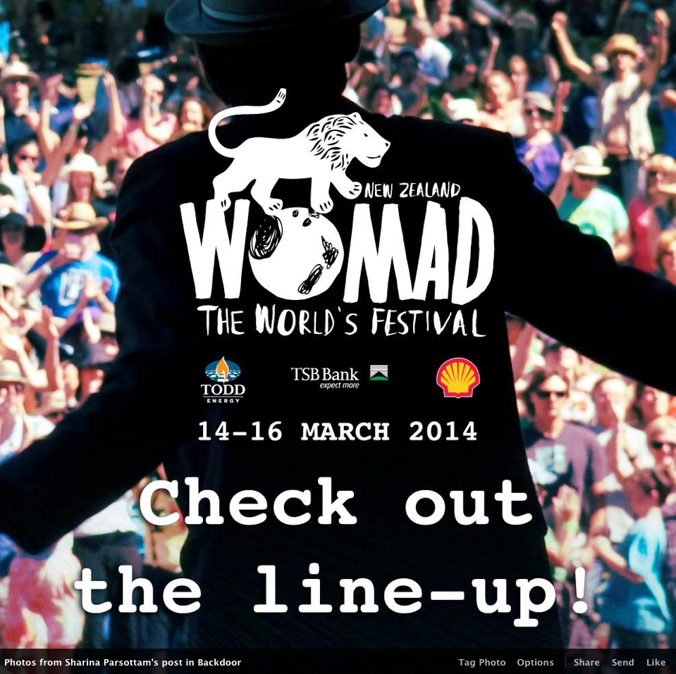 Look After Me hosted Accommodation celebrating Womad 2014 in New Plymouth